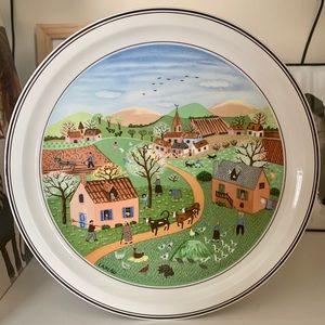 Vtg Villeroy & Boch Spring Plate